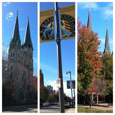 Tryptic of a beautiful autumn day at Marquette