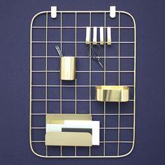 Panneau organiseur bureau Coming b doré mat #office #new #inspiration #pepperbutter  www.pepperbutter.com