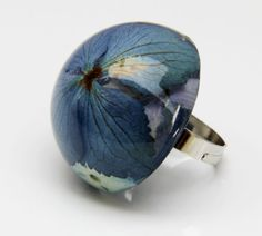 Real Flower Resin Ring Statement Ring Hydrangea by JasmineThyme, $30.00