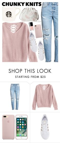 """Chunky Knits"" by parisian-rose ❤ liked on Polyvore featuring adidas Originals, Fall, blush, fallfashion, fallsweaters and chunkyknits"