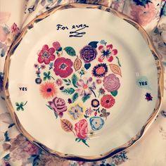 Francophile Dessert Plate #Anthropologie #MyAnthroPhoto