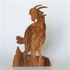 Billy Goat Wooden Puzzle - American Cherry. $28, via Etsy