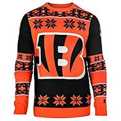 Klew Ugly Sweater Cincinnati Bengals, Small