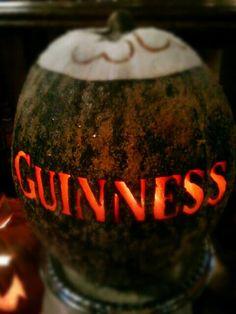 #Guinness #pumpkin #carving #Halloween