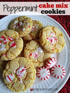 Perfect for a holiday cookie exchange, these Peppermint Cake Mix Cookies are quick to make and filled with flavor and texture!