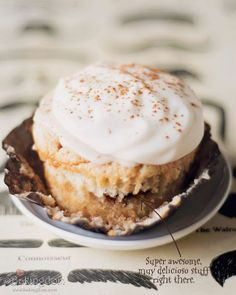 Cinnamon Roll Cupcakes with Coffee Icing and Cream Cheese Frosting   Oh yes. These will happen.
