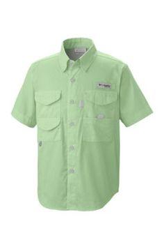 Columbia Key West Green Bonehead Shirt Boys 8-20