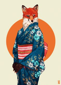 Illustrations of Animals with Human Personalities by Kim Nguyen