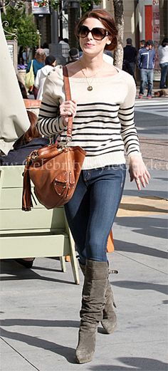 Seen on Celebrity Style Guide: Ashley Greene out shopping at The Grove in West Hollywood - April 9, 2011