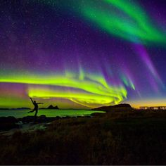 Dancing with the lady Aurora Photo by @wildlife_norway  Location: heaven on earth #vesterålen #norway #ilovenorway by ilovenorway