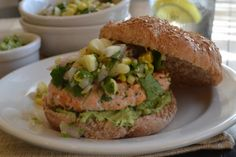 Tex Mex Salmon Burgers With Avocado Cream Spread | Tasty Kitchen: A Happy Recipe Community!