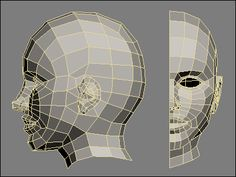 low poly count 3D human head - reference