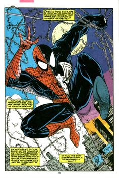 Spidey By Two Artists in Amazing Spider-Man #350. August, 1991 - Eric Larson & Todd McFarlane