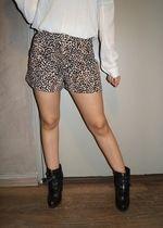 short léopard taille haute t. 36/38