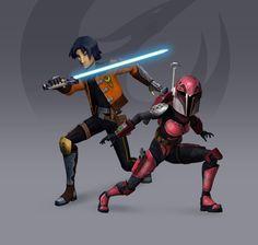 Ezra + Sabine - Rebels Season 3 Redesign (Fan Art) by Brian-Snook on DeviantArt