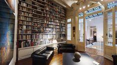 Una biblioteca soñada! 📚💛 . . . . . . . . . .  #biblioteca #espacios #interiorismo #decor #decoracion #realestate #casa #lujo #soñada #library #libros #arte #art #domingo #invierno #julio #sillon #luces #momento #photooftheday #instagram #fotografia #mirandabosch