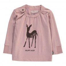 T-Shirt Cervo Cotone Bio  Rosa antico
