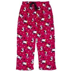 Red Penguin Plush Plus Size Pajama Pants for Women 2X Lov to Sleep. $11.99