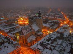 Lviv (Ukraine) in winter by Myroslav Vydrak