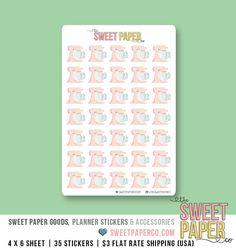 Mischer-Planner-Aufkleber Vintage Pink von TheSweetPaperCo auf Etsy