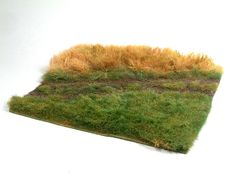 Great idea for grass - could make ornamental grass for miniature landscaping