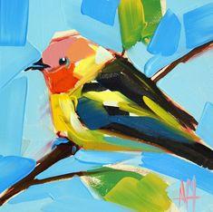 Kieferntangare Nr. 12 Vogel Kunstdruck von Angela von prattcreekart