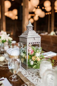wedding centerpiece idea; photo: Lauren Fair Photography