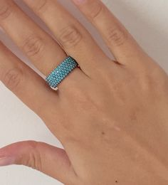 Turquoise Gemstone Jewelry Sterling Silver Zirconia Stone