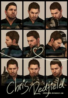 9 Faces Photo-shoot - Chris Redfield by xTh13teeNx on DeviantArt