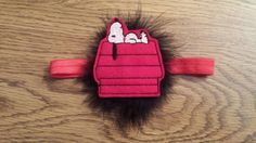 Check out this item in my Etsy shop https://www.etsy.com/listing/247513632/snoopy-feltie-poof-headband-specify-size