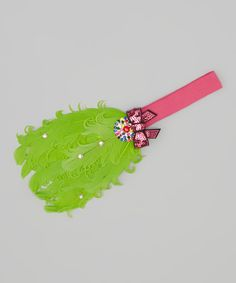 Take a look at this Hot Pink & Lime Bow Feather Headband on zulily today!