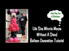 Life Size Minnie Mouse Balloon Decoration Tutorial - YouTube
