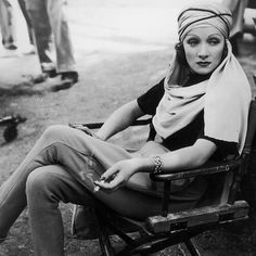 Today on BAZAAR.com @JenniferAlgoo rounds up some of the best behind-the-scenes looks of the stylish actresses of Old Hollywood. Marlene Dietrich, 1936.