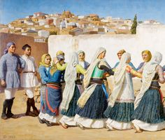 Folklore, 1920s, Greeks, Costumes, Paintings, Dress Up Clothes, Paint, Fancy Dress, Painting Art