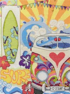 Surf Counted Cross Stitch Kit