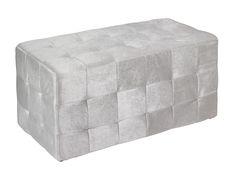 Puf rectangular color gris. www.actuadecor.com