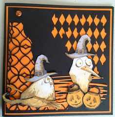 Focus on Papercraft: Crazy Bird Halloween card