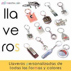 #Llaveros personalizados de todas las formas y colores.  merchaspain.com   #Mallorca #regalospersonalizados #llaverospersonalizados #keyrings #bordado #transfers #promotionalgifts #keys #merchandising #gift #realestate