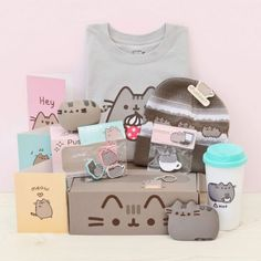 Pusheen Box ❤ liked on Polyvore featuring home and home decor