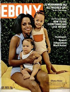 Diana Ross with her babies