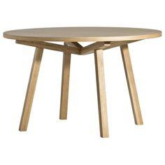 Table haute, forme ronde, en bois massif. Design scandinave par Sean Dix. 4-6 personnes.