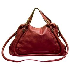Authentic Chloe Paraty Large Authentic Chloe Paraty size large.  Like new condition.  Nutmeg color.  Includes shoulder strap.  This bag is truly gorgeous.  I just don't use enough. Chloe Bags Satchels