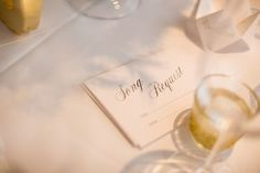 Song request cards for wedding tables