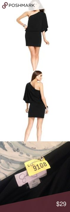 Jessica Simpson Black Party Dress Size Medium NYE Jessica Simpson Black One Shoulder Party Dress Perfect for New Year's Eve!  Size Medium  Waist 14.5 inches Length from one shoulder to hem is 33.75  Dry Clean.    Fresh from Dry Cleaners :) Jessica Simpson Dresses One Shoulder