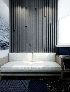 Modern apartment featuring 3D wall panelling