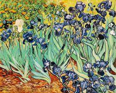 "dominusvenustas: "" Vincent van Gogh, Irises, 1889 Theme of the day in case you hadn't guessed…. Van Gogh's irises. Van gogh's glorious irises. The vibrant colours and wonderful rhythms say all. Art Van, Van Gogh Art, Van Gogh Pinturas, Vincent Van Gogh, Rembrandt, Canvas Wall Art, Oil On Canvas, Bedroom Canvas, Artwork Wall"