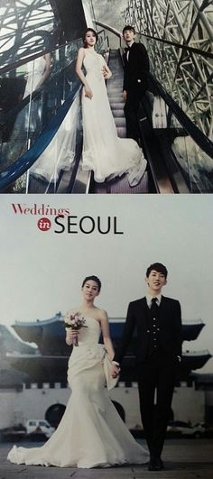 Jo Kwon and Seung Ah become a married idol couple in pictorial for Weddings in Seoul