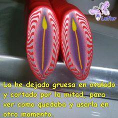 FIMO MANUALIDADES de MT: CAÑA PETALO C/ ROJO-photo tutorial for this cane