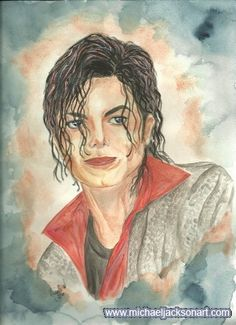 Michael Jackson painting - This Is It portrait