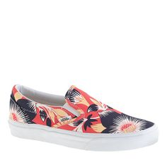 J.Crew - Vans for J.Crew classic slip-on shoes - like the acid wash blue! the two brands i adore most... been wearing ma Vans since 88'.